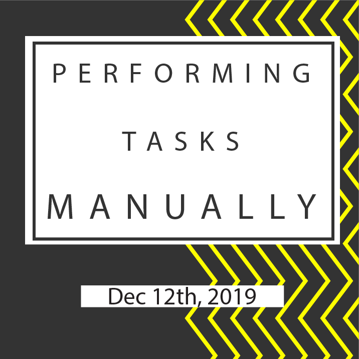👍 Perform a tasks manually
